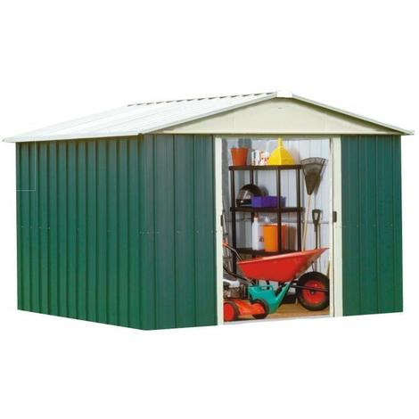 YARDMASTER Abri de jardin en métal - Surface hors tout : 7.18 m²