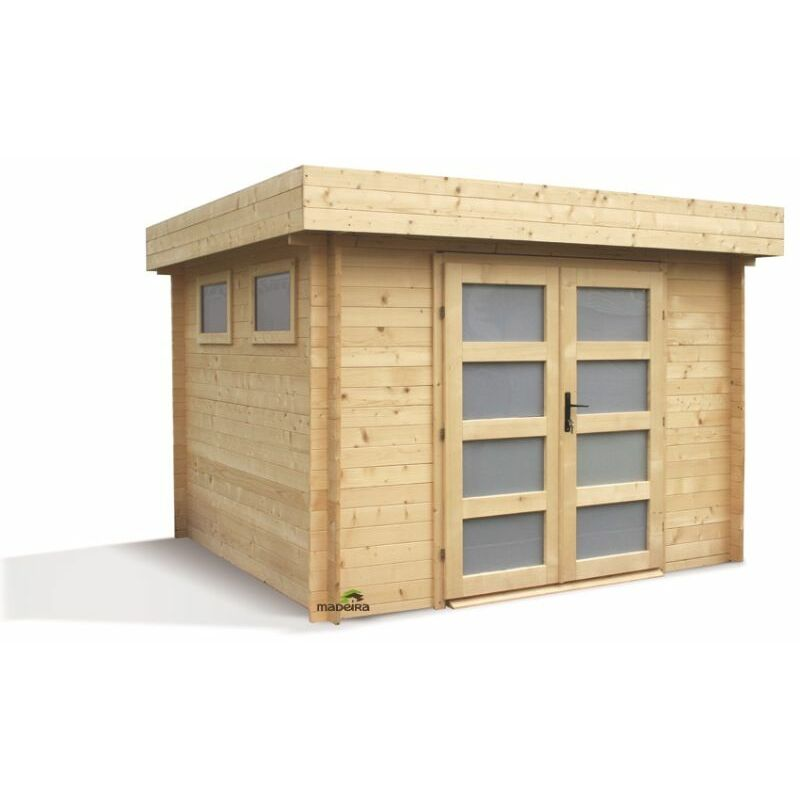 Abri de jardin moderne en bois kivik 8m2 28mm 2280 - Abri jardin moderne ...