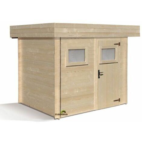 Abri de jardin moderne en bois Mikki 4,8m2 - 19 mm