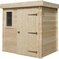 Abri de jardin bois toit plat à prix mini