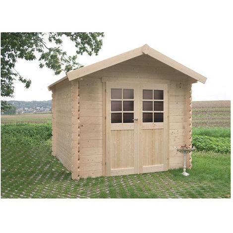 Abri de jardin Nîmes - Option: Sans plancher - Traitement autoclave: Oui