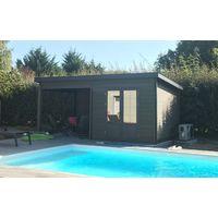 Abri jardin toit plat à prix mini