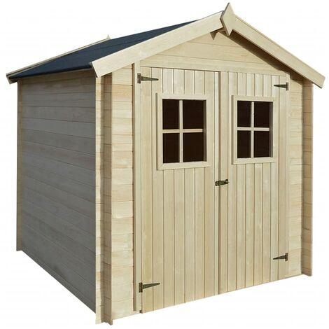 Abri de jardin pour bûches de bois 2 x 2 m 19 mm Bois