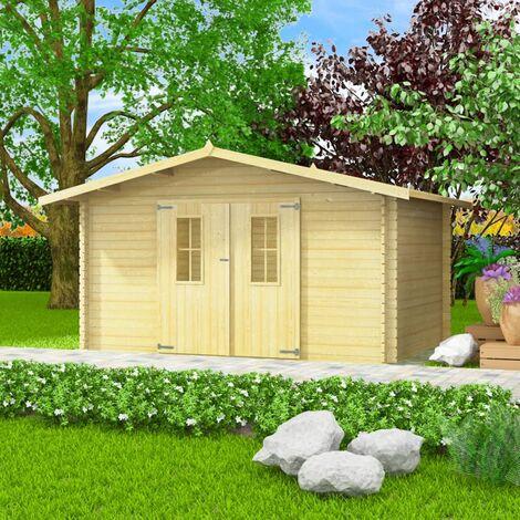 Abri de jardin pour bûches de bois 34 mm 4 x 3 m Bois massif