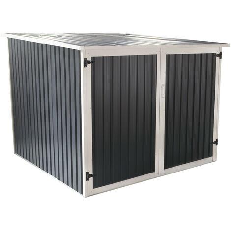 Abri de Jardin pour Vélo en Métal Gardiun Veloc II (X4) 4,02 m² Extérieur 198x203x157 cm
