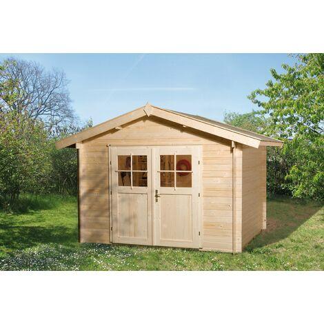 Abri de jardin Premium 28 disponible en plusieurs tailles et 2 types d'avancée de toit