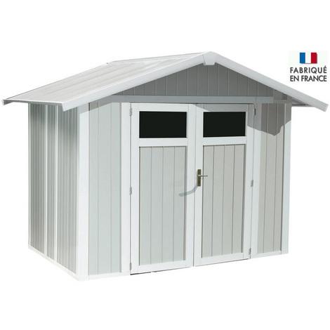 Abri de Jardin PVC gris-bleu Grosfillex - 5m² ou 7m²