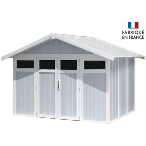 "Abri de Jardin PVC ""Utility"" 7m² gris-bleu Grosfillex"