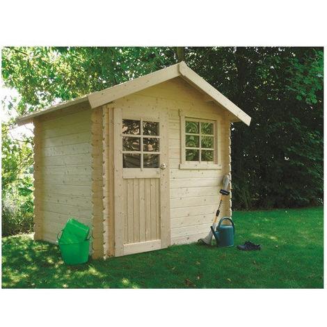 Abri de jardin Saran - Option: Avec plancher - Traitement autoclave: Oui