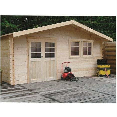 Abri de jardin Vernier - Option: Sans plancher - Traitement autoclave: Non