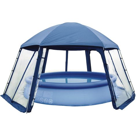Abri de piscine/spa en polyester 3 portes 5 x 3.9 x 2.5 m
