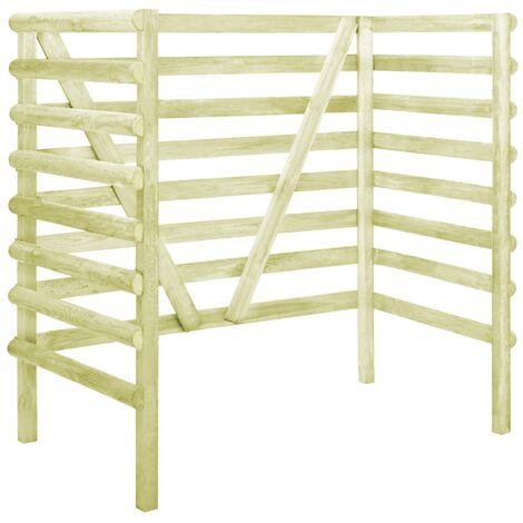 Abri de poubelle double Vert 140x80x150 cm Pin imprégné