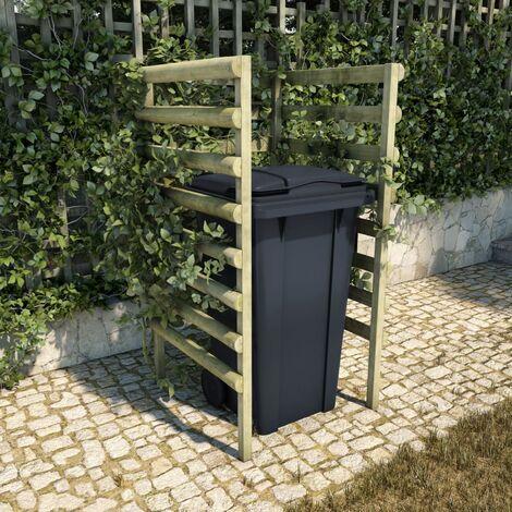 Abri de poubelle simple Vert 70x80x150 cm Pin imprégné