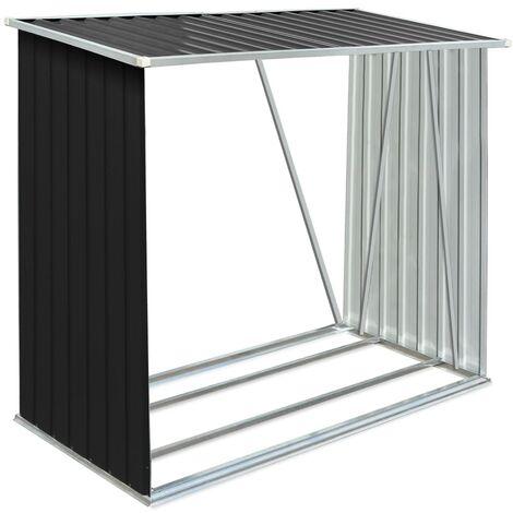 Abri de stockage à bois Acier galvanisé 163x83x154cm Anthracite