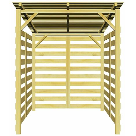 abri de stockage du bois de chauffage bois de pin impr gn. Black Bedroom Furniture Sets. Home Design Ideas