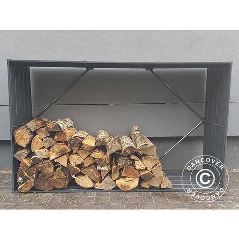 Abri de stockage pour bois/parterre de fleurs surélevé, 1,1x0,5x1,8m ProShed®, Anthracite