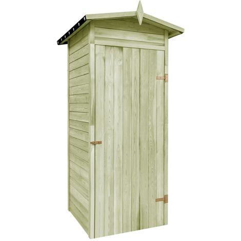 Abri de stockage pour jardin Pin Impregne FSC 100x100x210 cm