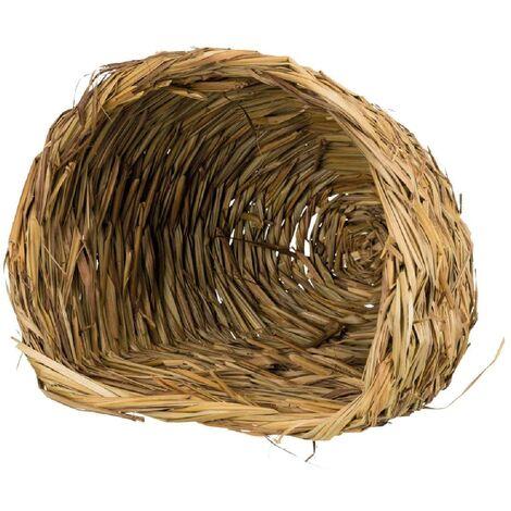 Abri douillet en herbe compatible avec lapins nains - 30x26x26cm