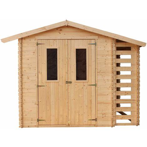 Abri en bois CALYPSO + Bûcher - 5 m²