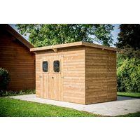 Abri en bois traité très haute température 3,16 m mono pente