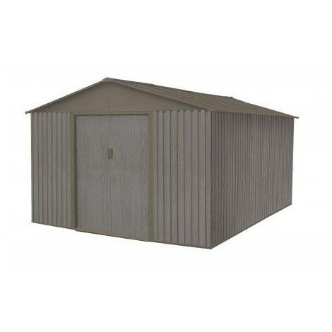 Abri en métal aspect BOIS VIEILLI® - 13,5 m²