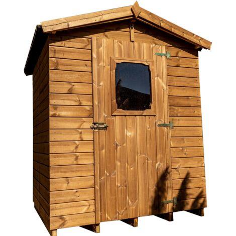 Abri en panneaux de bois massif traité 19 mm - S.u. 2,25 m² - Toit double pente