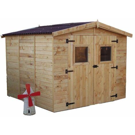 Abri en panneaux de bois - Surface utile 5,60 m²