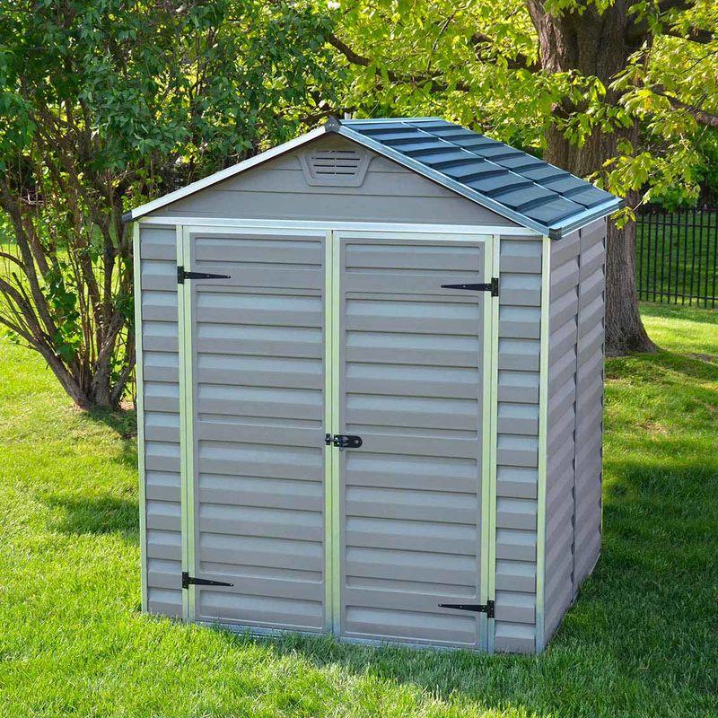 MADEIRA- Abri de jardin en polycarbonate sur cadre aluminium (PVC – Résine gris) 2.83 m² - Cabane / Remise de jardin - Rangement vélos- rangement de