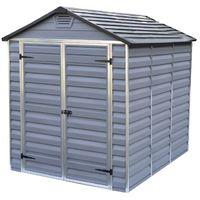 Abri en polycarbonate sur structure aluminium 185x230x217cm