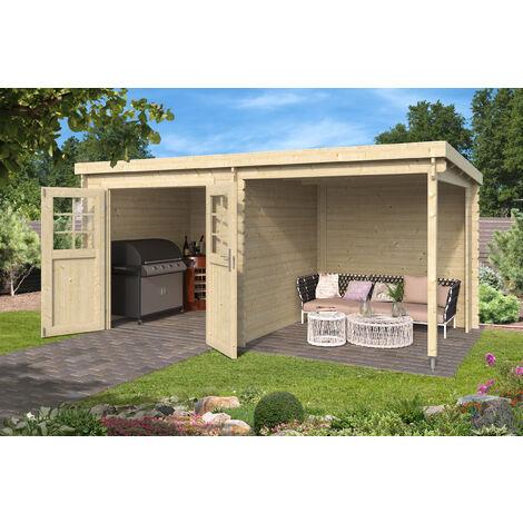 Abri haut de gamme Sophy avec extension, 4,6 + 4,6 m²