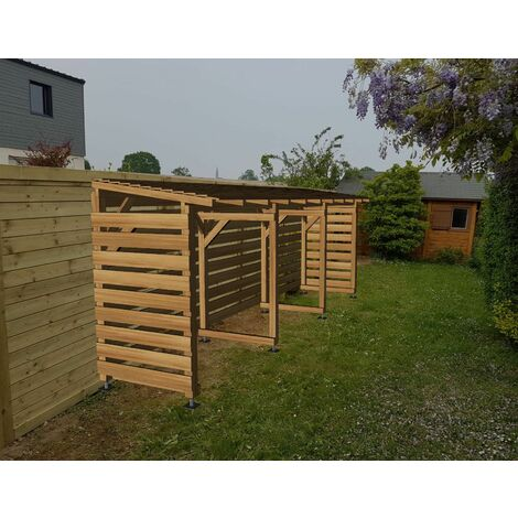 Abri Jardin 6m - Couvert - Cl3 Marron