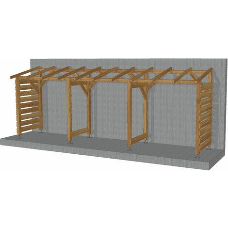Abri Jardin 6m - Non Couvert - Sans fond - Cl3 Marron