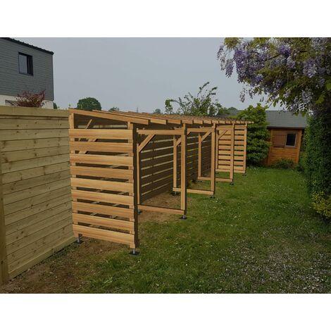 Abri Jardin 8m - Non Couvert - Cl3 Marron