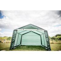 Abri jardin en toile verte toit 2 pentes 13.3 m2