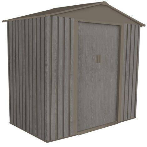 Abri jardin métal - Aspect BOIS VIEILLI 64 - 2,43 M²- GRIS
