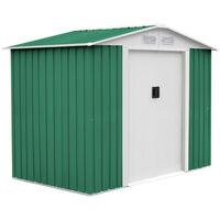 Abri Jardin Métal Gardiun Glasgow Vert Blanc 630 M² Ext Kis12992