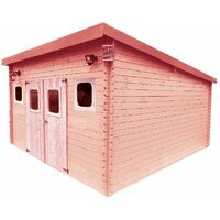 Abri madriers en douglas massif toit mono pente - 17,14 m2