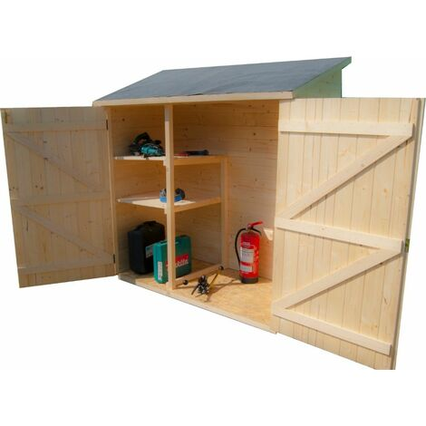 Abri mural de rangement avec étagère