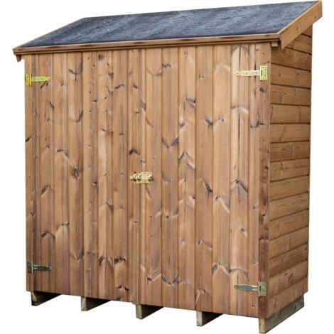 Abri mural multiusages en bois massif traité - panneaux 19 mm - surface utile : 1,05 m2
