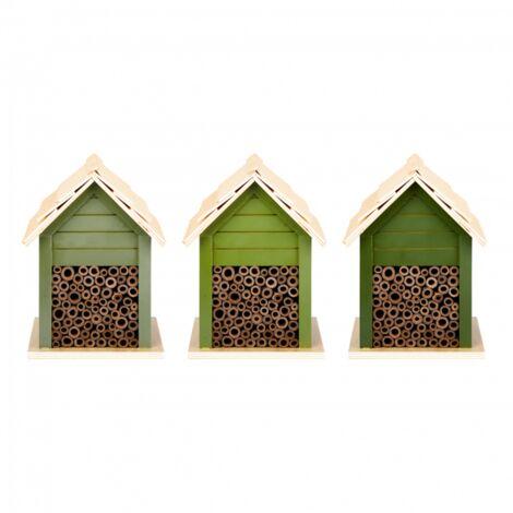 Abri pour abeilles - L 14,3 x l 15,7 x H 21,2 cm - Vert