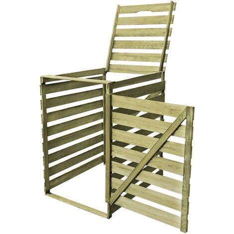 Abri pour poubelle 240 L Bois imprégné