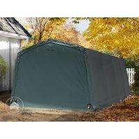 Abritente Garage Premium 33 X 62 M Pour Voiture Et Bateau Toile Pvc 500 Gm² Imperméable Vert Fonce