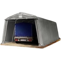 Abritente Garage Premium 33 X 77 M Pour Voiture Et Bateau Toile Pvc 500 Gm² Imperméable Gris