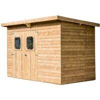 Abri THEORA en bois massif sans plancher, toit mono pente 6,45 m²