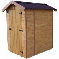 Abri WC en panneaux de bois - 1,35 m²