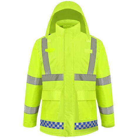 Abrigo impermeable reflectante de alta visibilidad SFVest, impermeable luminoso de seguridad