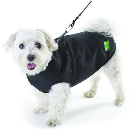 Abrigo para perros con arnés incoporado