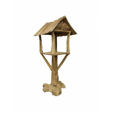 Abris maisonnette pour oiseaux en teck - HOUSE - Bois