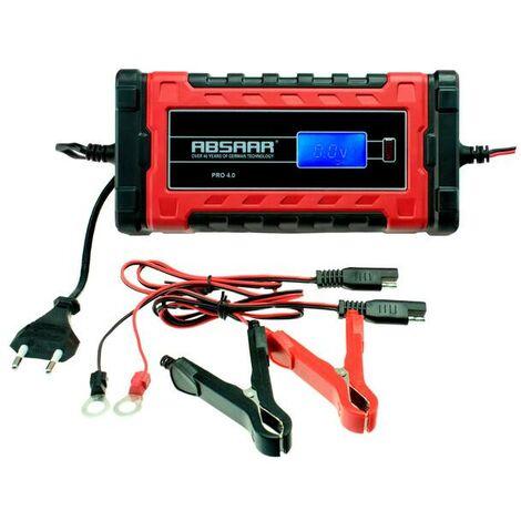 Absaar Par chargeur de batterie 6/12 Volt - 4 Ampère - contrôlé par microprocesseur