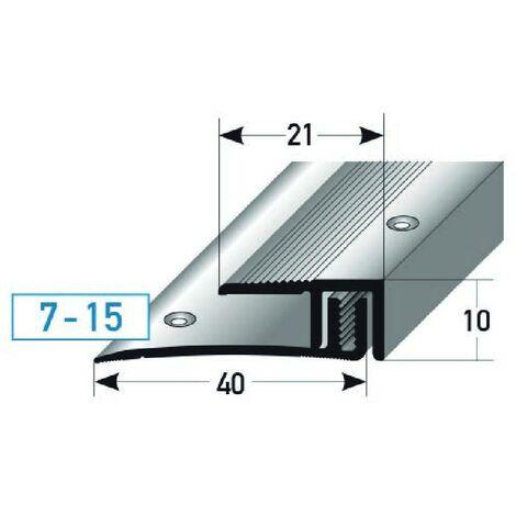 "Abschlussprofil / Abschlussleiste Laminat ""Edmonton"", Höhe 7 - 15 mm, 21 mm breit, 2-teilig, Aluminium eloxiert, gebohrt"